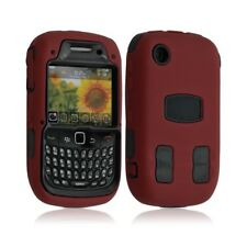 Coque pour Blackberry Curve 3G 9300 couleur rouge + Film de protection