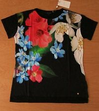TED BAKER BNWT! *Forget Me Not* Top UK 12 3 Holiday ~Party~ Cruise Black FLORAL