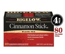(Pack of 4) Bigelow Cinnamon Stick Black Tea Bags 20-Count Boxes Caffeinated 80