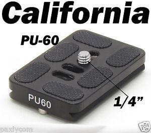 PU-60 Quick Release Plate Tripod Ballhead Arca Swiss PU60 Ball Head QR Slide in