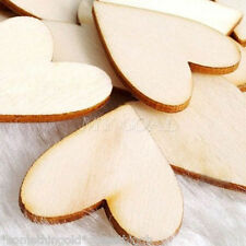 30 shabby chic wooden hearts for wedding, Decoration, crafts, Gifts, Table