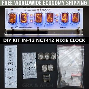 DIY KIT IN-12 Nixie Tubes Clock with Acrylic Stand [WITH OPTIONS] FREE SHIPPING
