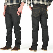 New Mens Wrangler Jeans Regular Straight Trousers Dark Grey Denim Designer Pants