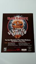 IRON MAIDEN BEST MOMENTS IN METAL MADNESS. RARE ORIGINAL PRINT PROMO POSTER AD