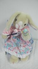 ANIMATED EASTER MRS BUNNY RABBIT SITTING IN CHAIR PAINTING EGGS MUSICAL
