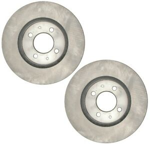 Pair Set 2 Front Disc Brake Rotors ACDelco For Acura EL Integra Honda Civic Fit