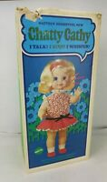 Mattel 1969 Chatty Cathy Doll Blonde, Voice Box Non-Functioning