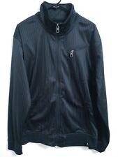 Men's Size XL Marc Ecko Cut & Sew Deadly Threads Black Pinstripe Full Zip Jacket