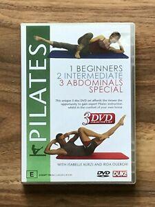 PILATES Beginners Intermediate Abdominals Special 3 DVD Set