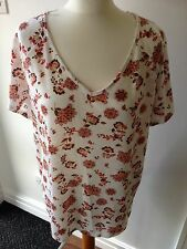 "LOVELY LADIES TOP BY ""PER UNA"" FROM MARKS AND SPENCER SIZE 16 IVORY MIX BNWT"