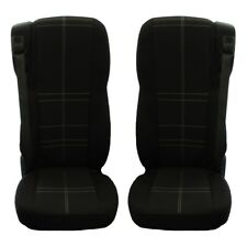 DAF 106 XF TRUCK FABRIC TAILORED SEAT COVERS BLACK 2 pieces