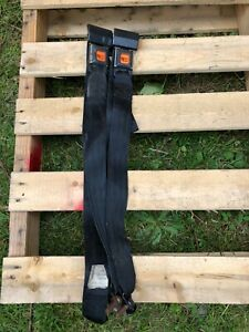 Jeep Wrangler YJ & CJ 87-91 Complete Rear Seat Belt Set Female Male Lap Seatbelt