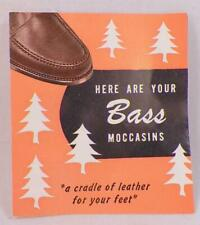 Bass Moccasins Shoes Advertising Pamphlet Weejuns Paper 4 Pages Vintage