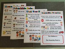 Childminder childminding posters fire hand wash house rules friendship A5
