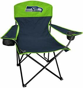 Rawlings NFL XL Lineman Tailgate and Camping Folding Chair Navy Lime Green On...