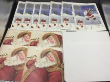 11 New Christmas Holiday Greeting Cards Santa Stockings Tree Bird Love Peace
