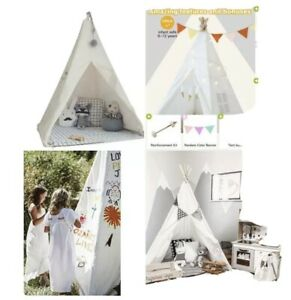 New!! Little Dove Kids Foldable Teepee Play Tent With Carry Case, Banner