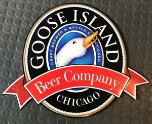 Goose Island Beer Chicago Advertisement Metal Sign, Packaged to ship