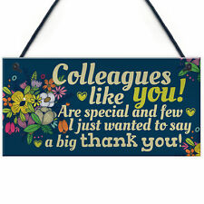 Colleague Gift Plaque Friendship Friend Sign Thank You Leaving Job Work Gift