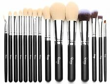Qivange Brush Set, Synthetic Cosmetics Foundation Bronzer Concealer Eyeshadow
