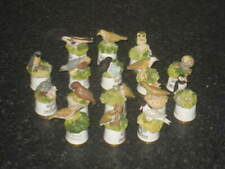More details for fine collection of sixteen sutherland birds of britain thimbles