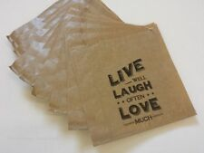 Vintage Gift Bags x 10 - Live Laugh Love - Party Wedding Favour Treat Favour Bag