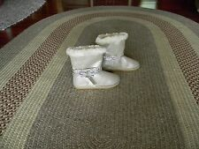NWT JUSTICE GIRLS COZY SHIMMER BOOTS TAUPE 5
