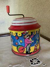 Lorenz Bolz Zirndorf W Germany Tin Litho Hand Crank Music Box/Noise Maker Toy