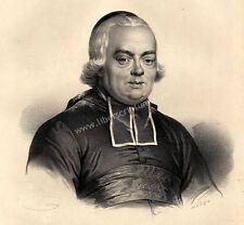Grand Portrait de l'Abbé de l'Epée Sourds Muets  - Lithographie Originale XIXe