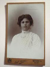 Weyer a. E. - OÖ - Fanni Hopf als junge Frau im Kleid - Portrait / CDV