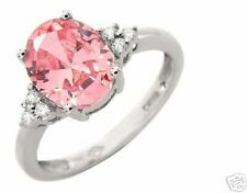 5.15ctw Diamond & CR Pink Topaz 10K WG Ring! HUGE!