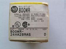 Allen Bradley 800MR-24HA2BRAS ILLuminated Selector Switch 800MR-24HX2BS NEW!!!
