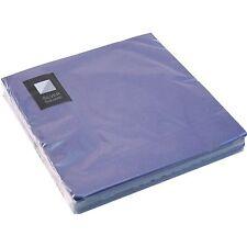 20 x Blue 3 Ply Paper Napkins 33cm x 33cm Square Party Serviettes Tableware