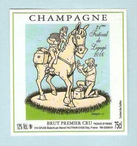MARGERIN  étiquette BD  champagne Vautrain   21 ème Festival.BD LIGUGE 2016