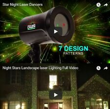 Dancing Stars Christmas Laser Light Water Resistant With Garden Spike IP44