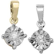 Collares y colgantes de joyería con diamantes colgante en oro blanco SI1