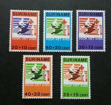 Suriname Child Welfare Red Cross 1979 Bird Freedom Health Rights (stamp) MNH