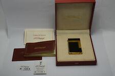ST Dupont Ligne 2 Black Laque De Chine Gold Plated Lighter & Box (Lacquer)