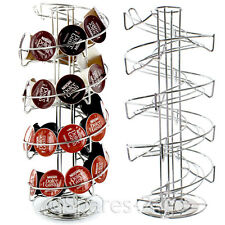 Rotating Revolving Coffee Pod Holder Tower Stand Rack Nescaf Dolce Gusto Tassimo