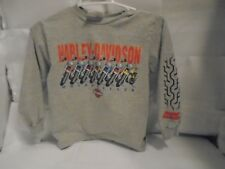 HARLEY DAVIDSON VINTAGE BOYS LONGSLEEVE TSHIRT IN GOOD CONDITION