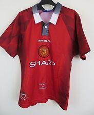 Niños Umbro 90s Camisa de fútbol del Manchester United MUFC Fútbol Jersey L Chicos lb