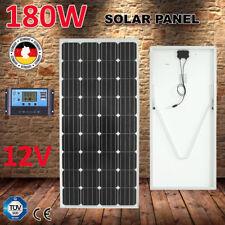 180W 12V MONO Solar Panel Kit RV CARAVAN PWM Regulator Charging with Bracket 4x4