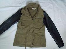 J.J.Winter Jacket, womens size Medium, canvas, faux leather
