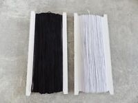 JOB LOT: 1mm x Round Cord Elastic/Beading/ Crafts/Sewing White or Black 800 yds