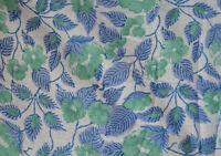 10 Yard Indian Hand Block Print Pure Cotton Fabric Sanganeri Running Fabric 8