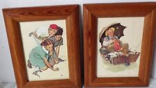 Lithograph 2 Framed 5x7 Saturday Evening Post 1972 Cpc/Dac