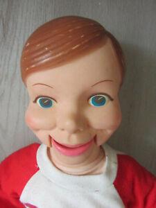 Vintage WILLIE TALK - Ventriloquist Dummy Doll by Horsman Red & White Top