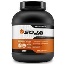 (1KG ERDBEER) SOJA Sojaprotein Eiweiß Protein VEGAN Soy Isolat Gold Topseller