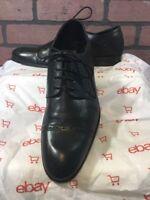 Stacy Adams Mens 9.5 M Black Cap Toe Oxfords Shoes
