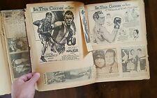 1936  3 x Unique Boxing Scapbooks Capure Boxing history Joe Louis, Dempsey, Baer